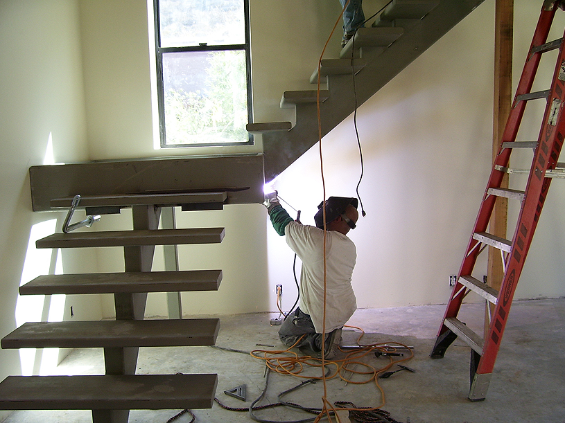 Custom Residential Steel Stair Case