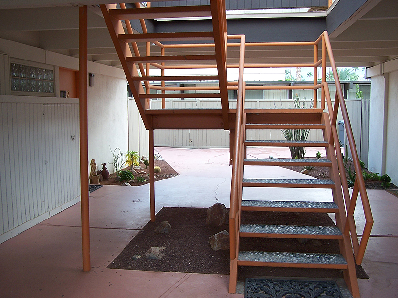 Outdoor/Exterior Steel Stair Case
