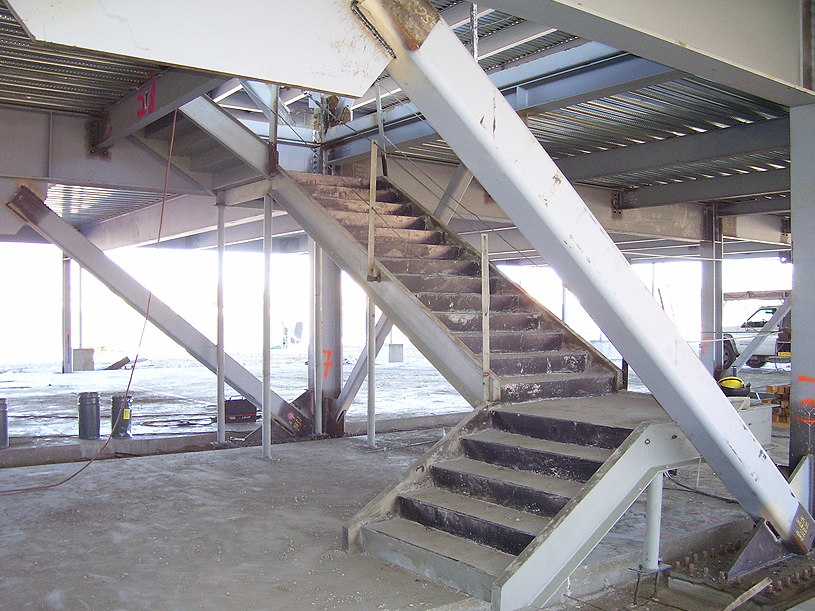 Parking Structure Steel Stair Case