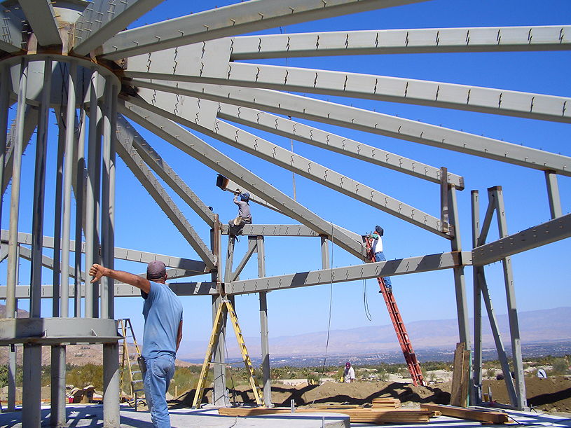 Steel Roof Structure for Commercial Project