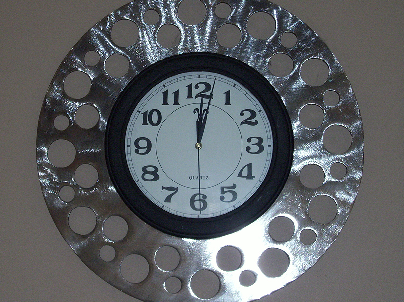 plasma cut clock surround